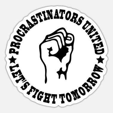 United Procrastinators united - Sticker