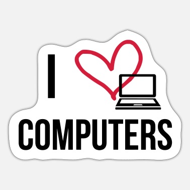 Computers I Love Computers - Sticker