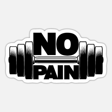 Bank-to-sit No pain - Sticker