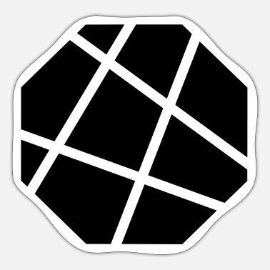 Octagon Octagon octagon grid - Sticker