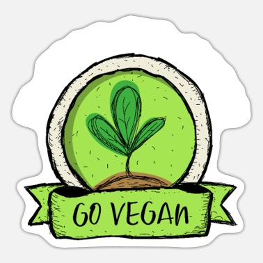 Go-vegan go vegan - Sticker