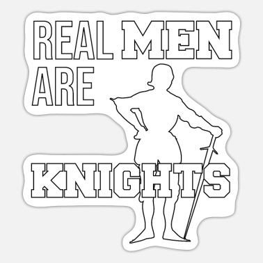 Knight Castle Kingdom courageously strong brave gift - Sticker