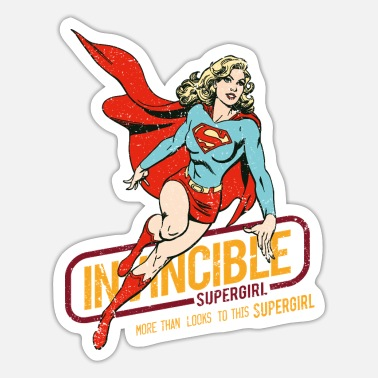 DC Comics Supergirl Invincible Used Look - Sticker