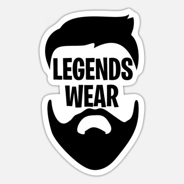 Wear Legends Wear Beard - Sticker