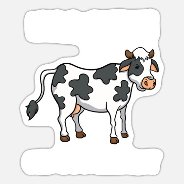 Kälbchen Cow Cows Calf Moo Bitch Funny Gift - Sticker