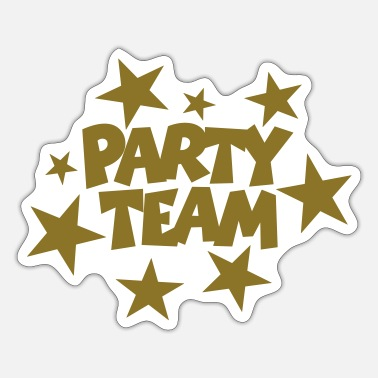 Beachparty Party Team Stars Gold (EU) - Sticker