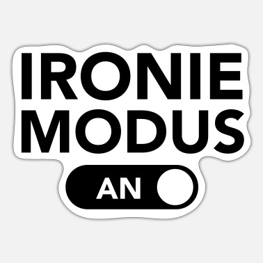 Modus Ironie Modus (An) - Sticker