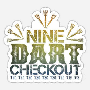 Checkout Nine Darts Checkout make 9 perfect darts - Sticker