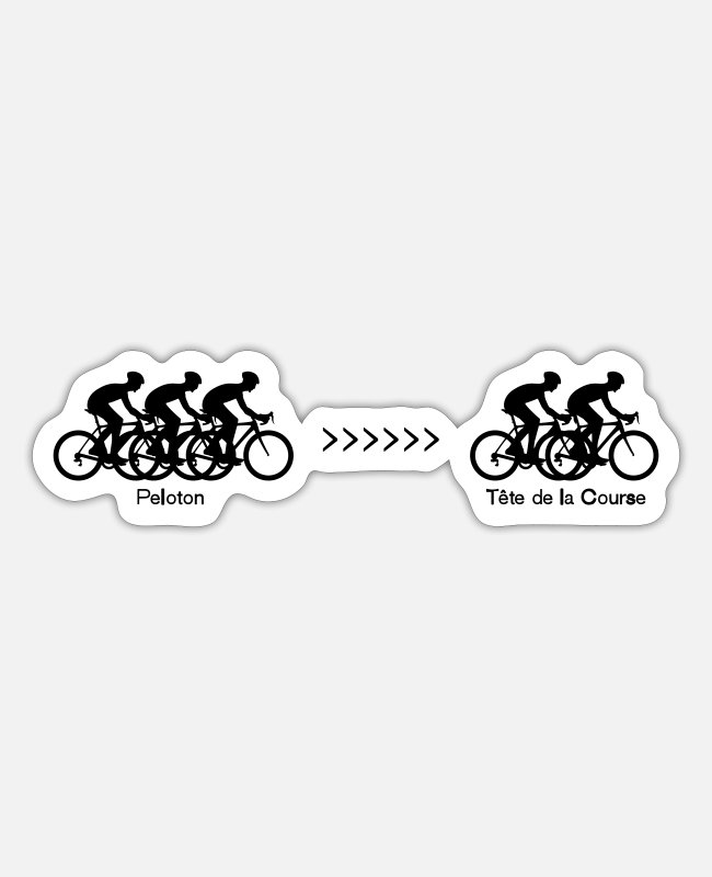 Races Stickers - Peloton - Tete de la Course - Sticker mat wit