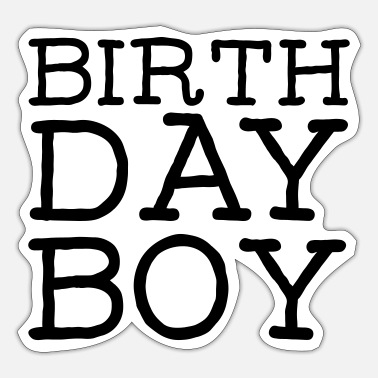 Birthday Birthday Boy - Sticker