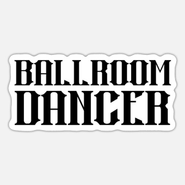 Ball Dancing Couple Dancing Ballroom Dancer - Sticker