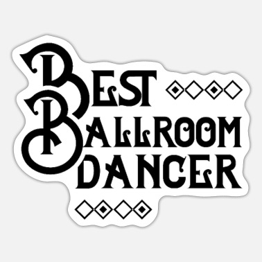 Ballroom dancing dancer - Sticker