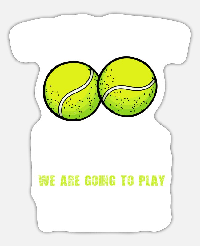 Tennis Stickers - Tennis tennis player tennis - Sticker white mat