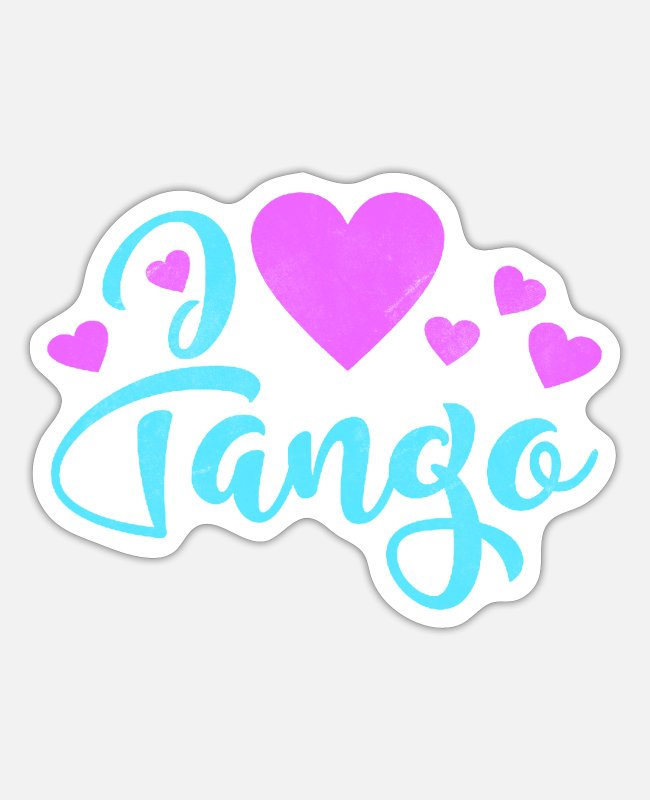 Dance Monster Stickers - Tango dance teacher dancing dance class dancer - Sticker white mat