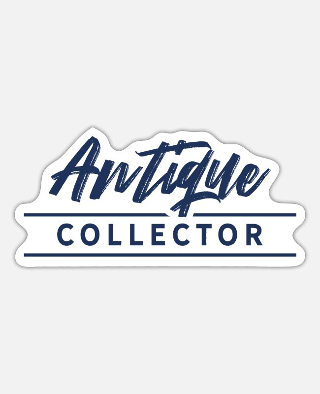 Trade Stickers - antique collector - Sticker white mat