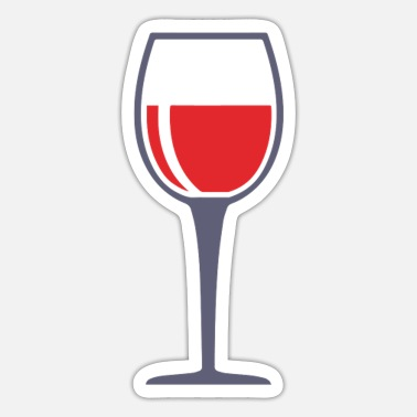 Wine Lovers Wine drinker wine wine lover - Sticker