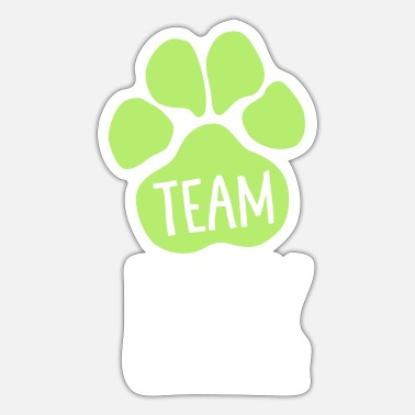 Rally Obedience Team Rally Obedience - Dog Paws - Dog Sport - Sticker