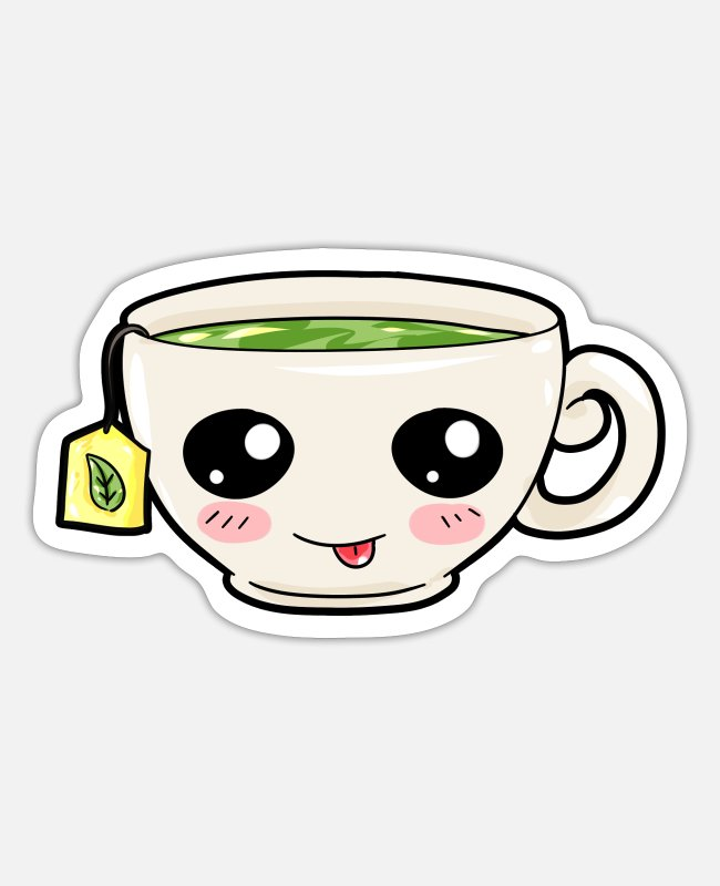 Fruit Tea Stickers - Tea Refreshment Drink Drinking Gift - Sticker white mat