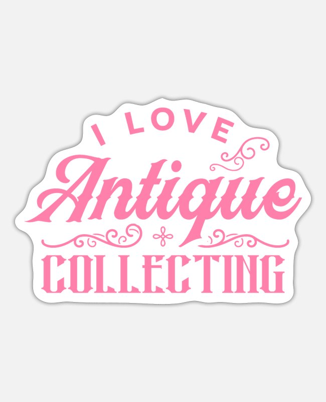 Trade Stickers - Antiques collectors - Sticker white mat