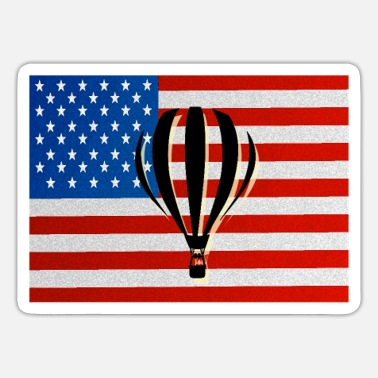 America Hot Hot Air Balloon Oxygen America Party Events Gift - Sticker