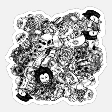 Mutant Men and Mutants bw - Sticker