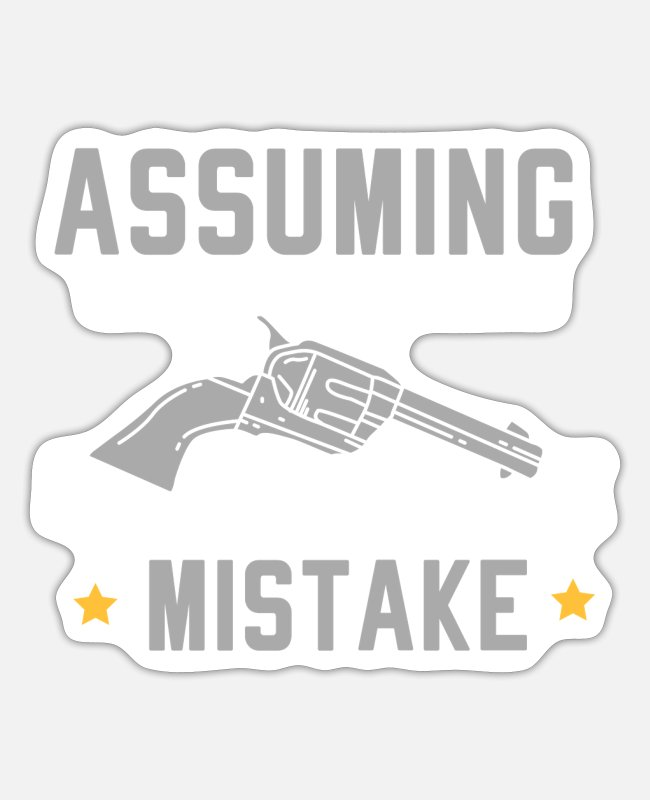 Rodeo Stickers - COUNTRY GIRLy: Your First Mistake - Sticker white mat