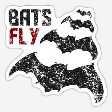 Bat Bats Fly - Bat - Bats - Design - Sticker