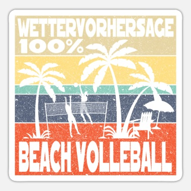 Beach Beach volleyball beach - Sticker