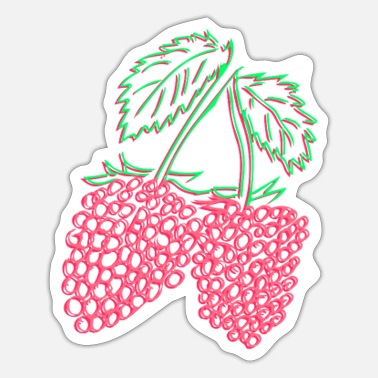Raspberries Raspberry - raspberries - Sticker