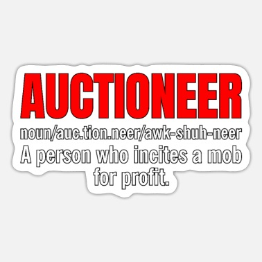 Auctions Auctioneer Definition - Sticker