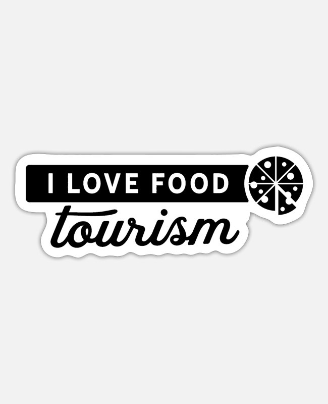 Tourism Stickers - Cook culinary food sample meal - Sticker white mat