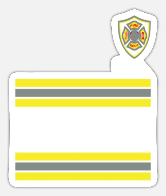 Fire Department Stickers - Fire Fighter Costume - Sticker white mat