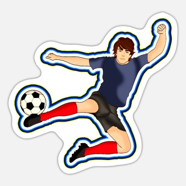 Football Footballer Football Design - Sticker