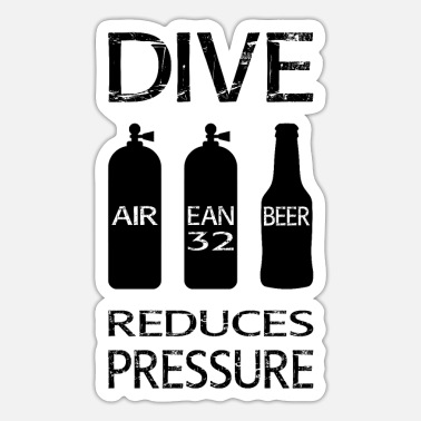 Reduced Diving reduces pressure - Sticker