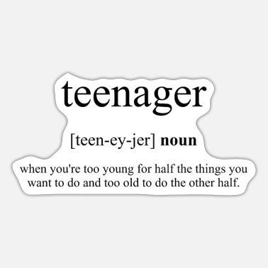 Teenager Teenager (teenager) - Sticker