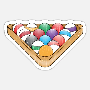 Billiard Ball Billiard billiard balls - Sticker