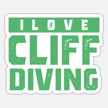 Cliff Cliff cliff jumping - Sticker