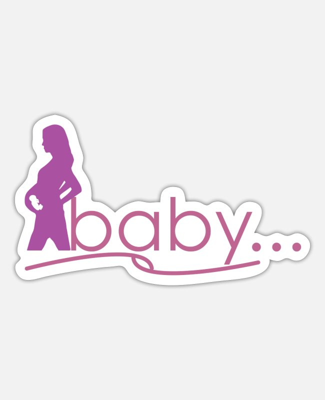Pregnancy Stickers - Birth mom baby - birth mom baby - Sticker white matte