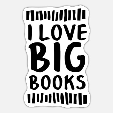 Big Love I Love Big Books - Pegatina