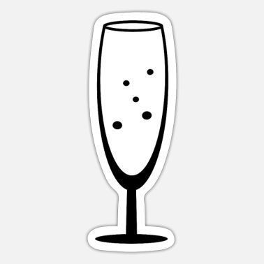 Champagne Glass Champagne glass of champagne - Sticker