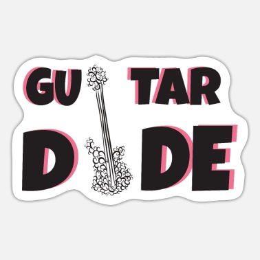 Guitar Dude Guitar: guitar dude - Sticker