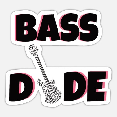 Guitar Dude Bass: Bass dude - Sticker