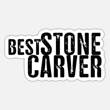 Stone Stone sculptor stonecutter carving stone stone stone - Sticker