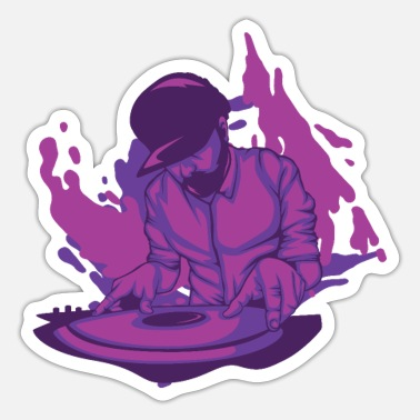 Scratching DJ Outfit für Discjockeys - Sticker