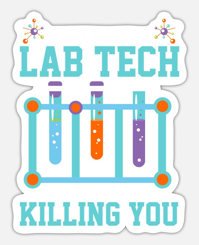 Medicine Stickers - Medicine Laboratory Technician Laboratory Technician - Sticker white mat