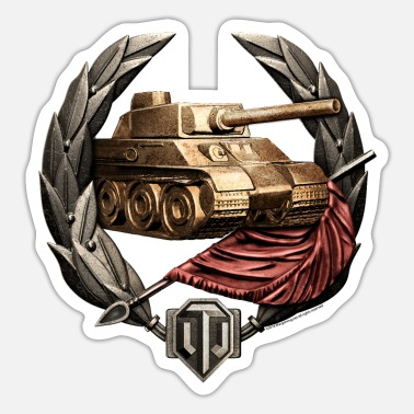 Invader World of Tanks Invader Médaille tasse - Pegatina