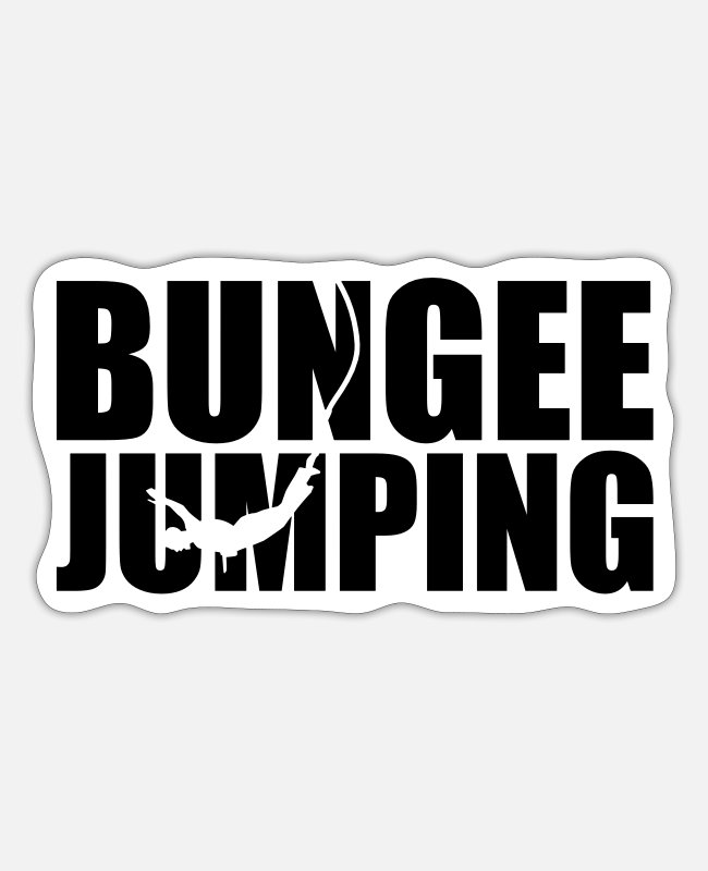 Bungee Jumping Sticker - Bungee Jumping - Sticker Mattweiß