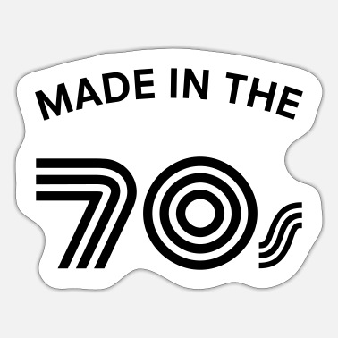 70 S Made In The 70\'s - Autocollant
