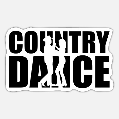 Country Country dance - Sticker