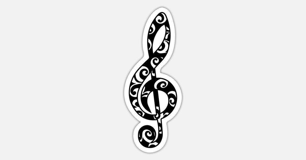 notenschlüssel note musik musiknote klassik sticker